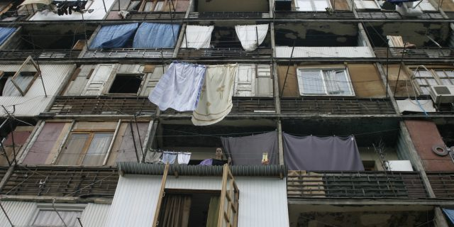 Tbilisi, Gruzja, blok mieszkalny
